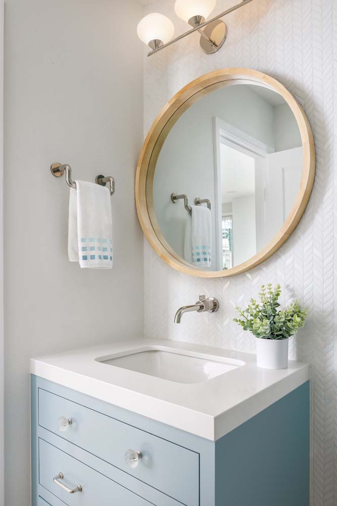 Bathroom Sink and Mirror