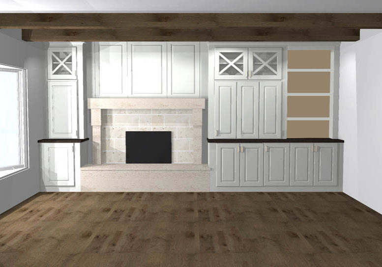 3D Rendering Fireplace