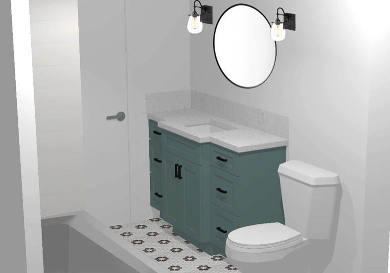 3D Rendering bathroom